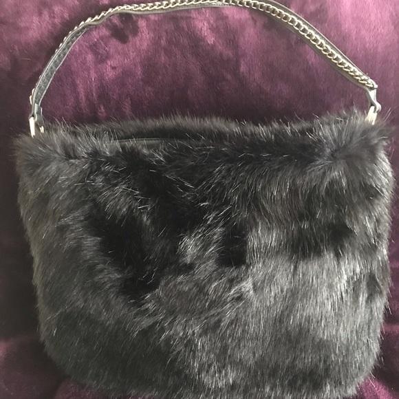 Handbags - Fabulous Faux Fur Purse! Never used!
